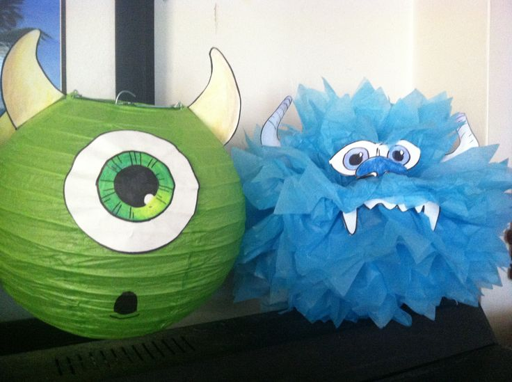 DIY monsters inc. decorations.