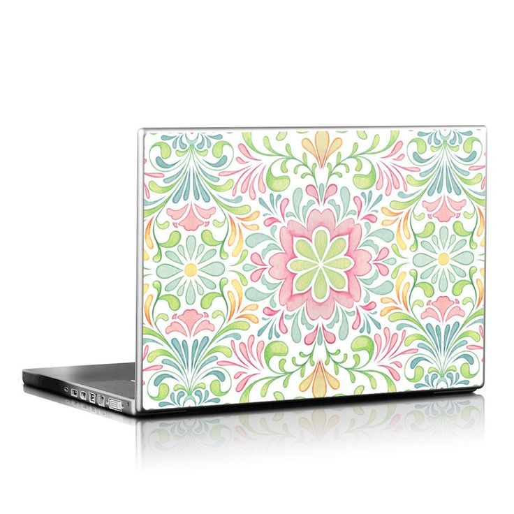 DecalGirl Universal Laptop skins feature vibrant full-color artwork that helps protect the Universal Laptop from minor scratches and abuse without adding any bulk or interfering with the device's operation.   This skin features the artwork Honeysuckle by Nicole Tamarin - just one of hundreds of designs by dozens of talented artists from around the world.