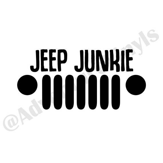 Jeep Junkie JK, Jeep Girl Decal, Jeep Girl Sticker, Jeep JK Decal, Jeep JK Sticker, Jeep Wrangler Decal, Jeep Wrangler Sticker, Jeep Life