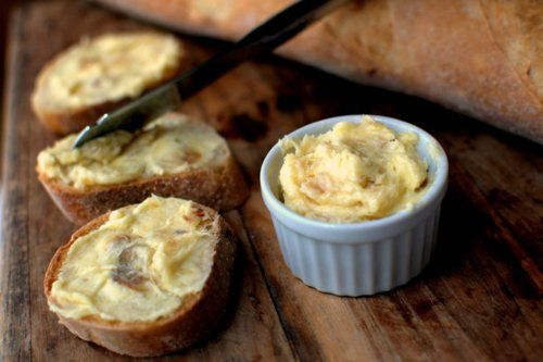 I love anything with garlic...never thought of roasting it with butter. Yum!