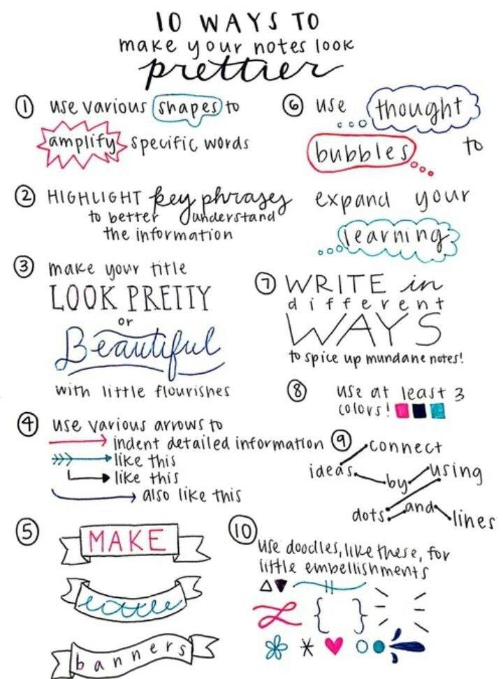 10 ways to make your notes look prettier
