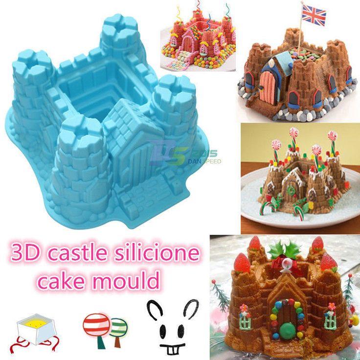 3D Castle Large Cake Chocolate Bread Fondant Decorating Silicone Baking Mold Pan   eBay
