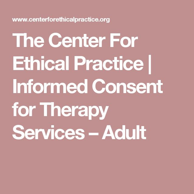Ethics informed consent and health services