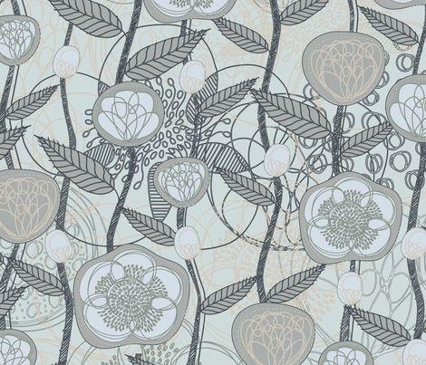 MagicFlowers-Sand fabric by serena_bellini on Spoonflower - custom fabric