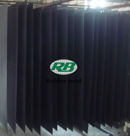 Stainless steel security screen PVC coated workshop