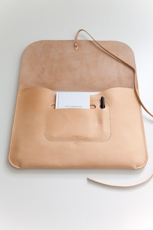 nude leather laptop case