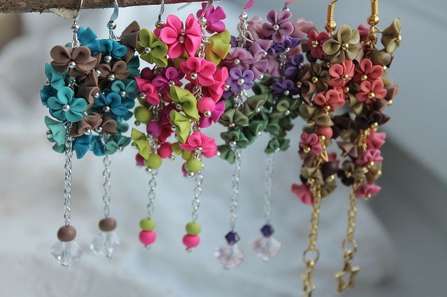 Some together | Polymer clay miniflowers on chain | Zuzana Liptáková | Flickr