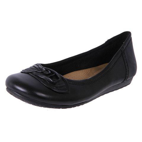 Planet Shoes Tac   Ladies Black Leather Comfortable Ballet   The Shoe Link