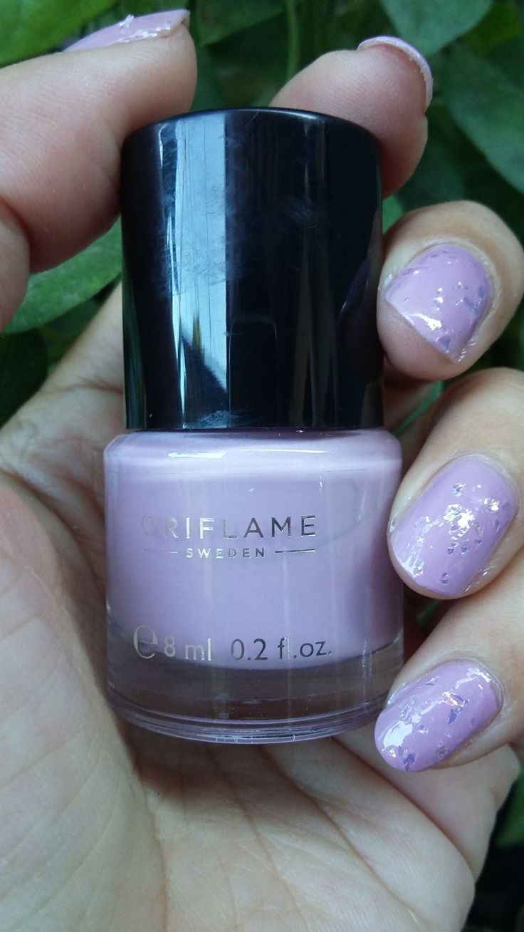 China Glaze Luxe and Lush over Oriflame Lavender Shimmer