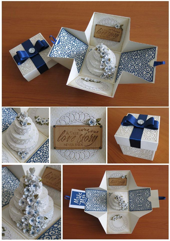 Wedding exploding box