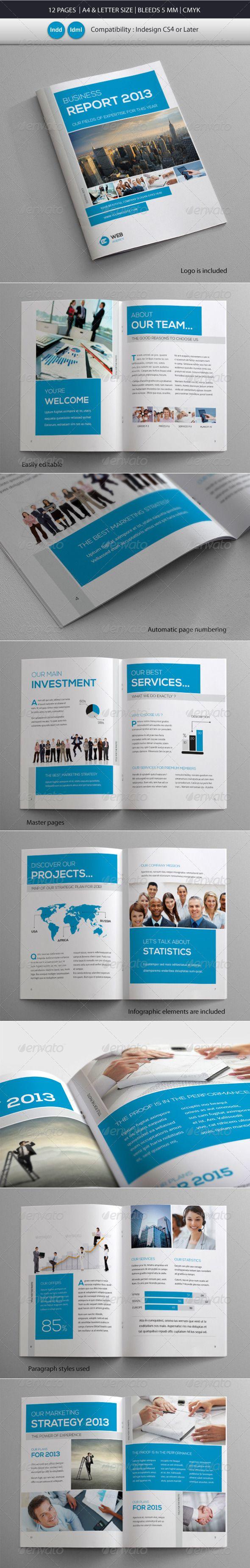 Coprorate Business Brochure Report Template – Corporate Report Template