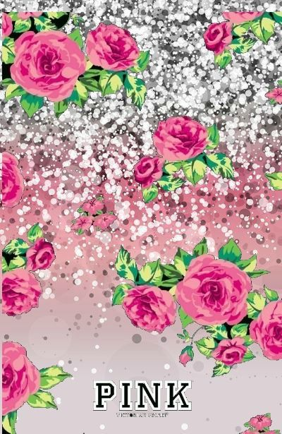 Victorias Secret Glitter Sparkle Pink Phone Wallpaper I Made