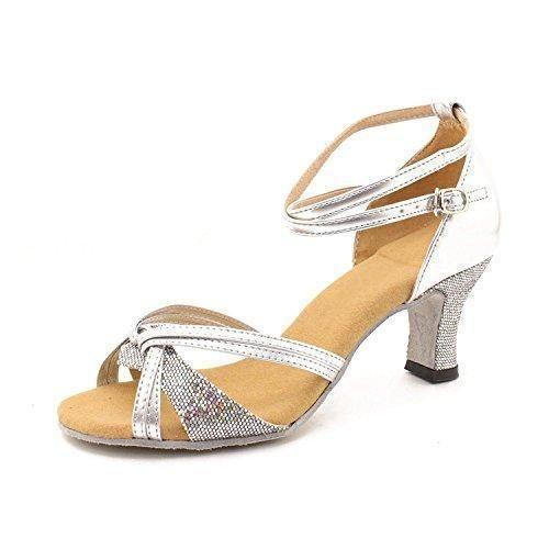 Oferta: 11.32€. Comprar Ofertas de Minetom Mujer Moda Sandalias Elegante Latín Tango Baile Zapatos Verano Medianos Talón Sandalias Plateado 37 barato. ¡Mira las ofertas!