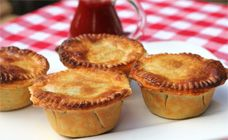 The pie filling in these beef pies is great. Add grated zucchini and carrot for veggies. Secret ingredient... Vegemite!