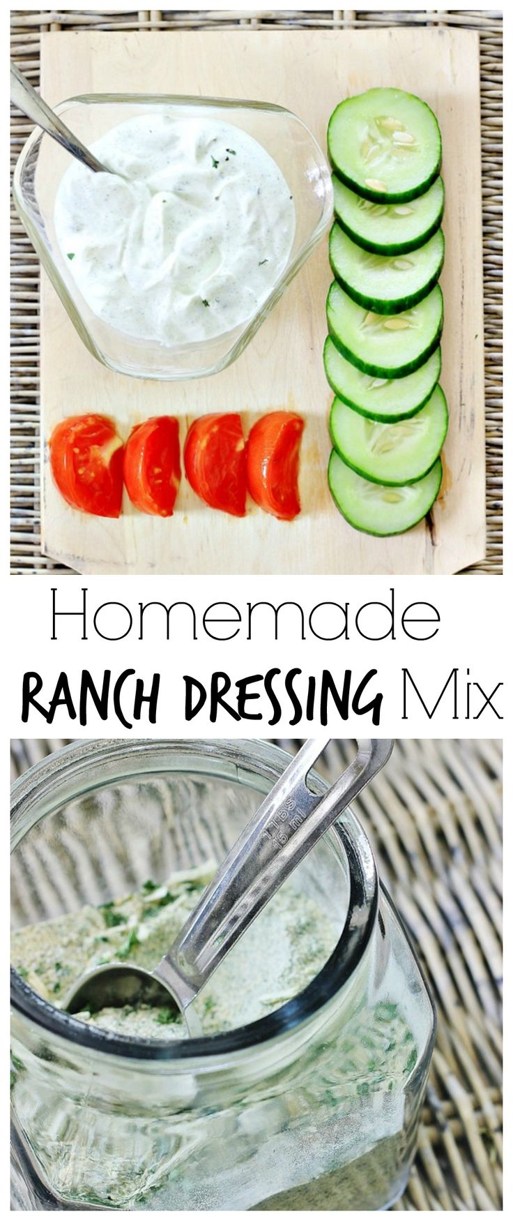 homemade ranch dressing mix recipe!