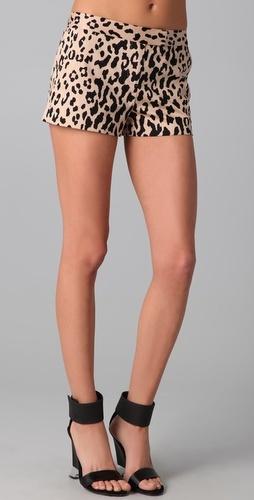Tibi leopard print shorts