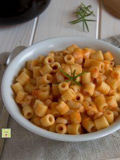 Pasta e fagioli, vegetariana con fagioli in scatola