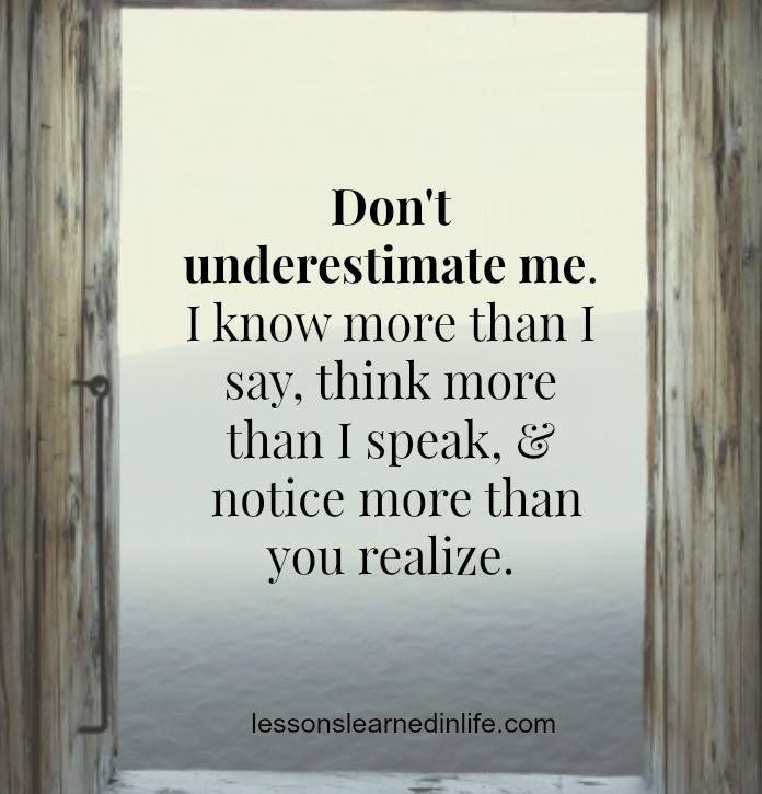 Underestimation.