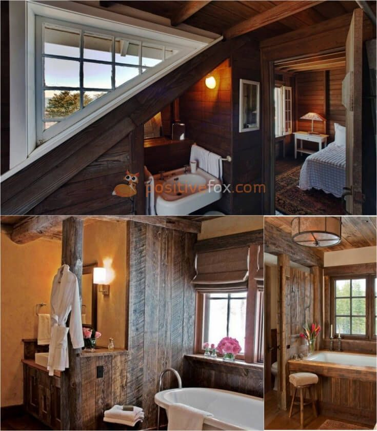 Country Bathroom • Rustic Bathroom • Country Interior Design | Explore more Country Bathroom Ideas on https://positivefox.com