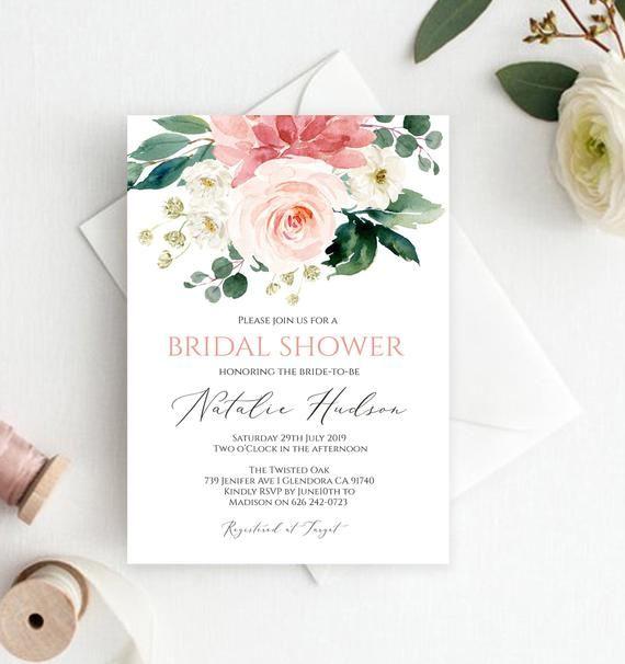 image regarding Printable Bridal Shower Signs titled Printable Bridal Shower Invitation Template Marriage ceremony, Bridal