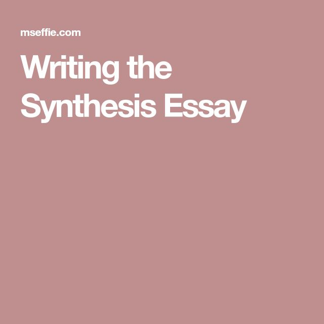 ap language synthesis essay college board