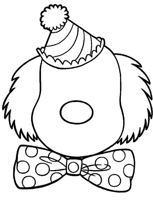 Face Clown Face Coloring Page Clown Face Coloring Pagefull Size
