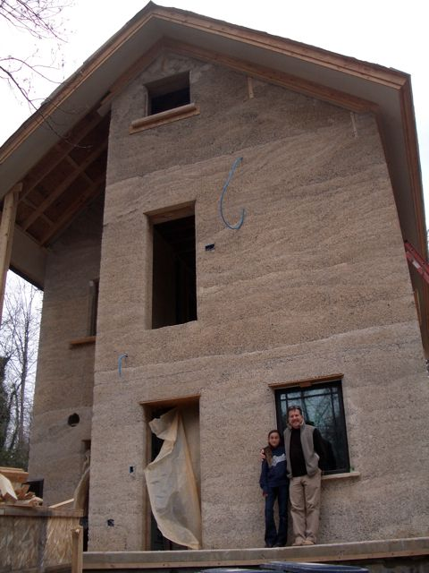 Home built using Hempcrete, a mixture of hemp, lime, and water. Green building to the max!