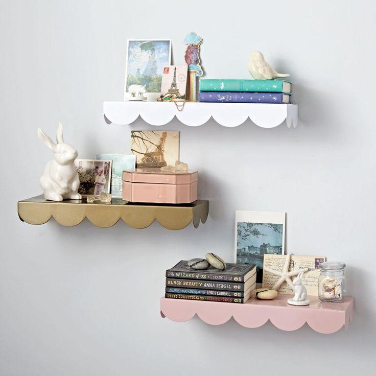 simple scallop wall shelf