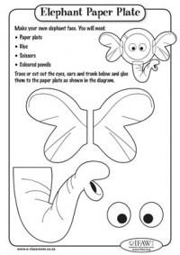ini caranya topeng piring kertas gajah