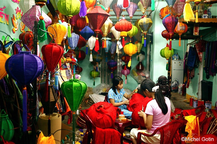 forward hoi an vietnam hoi an vietnam by rick strycker silk jacquard ...