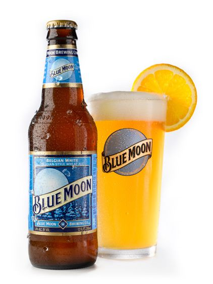Blue Moon Belgian White with a slice of orange.. Absolute heaven.