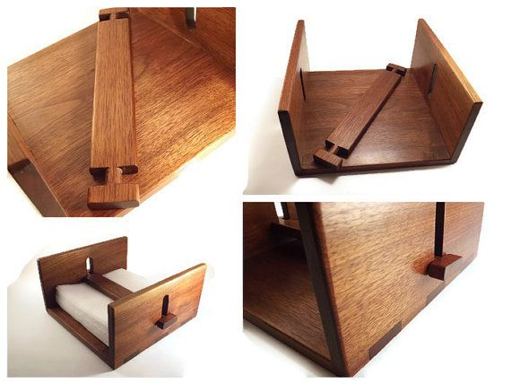 Teakwood Modern Napkin Holder Paper Napkin by MichelleandCoVintage