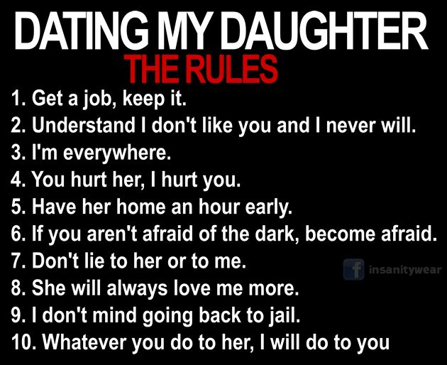 10 simple rules for dating my daughter shirts