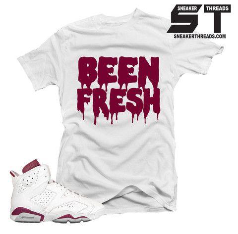 5c95642ad0f9 Shirts match Jordan 6 maroon retro 6 s sneaker tees.