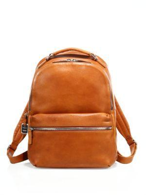 SHINOLA Runwell Leather Backpack. #shinola #bags #leather #lining #canvas #backpacks #cotton #