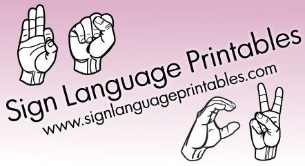 Sign Language Printables: flashcards, assignments, art, posters, awareness, education, oh so many uses! #ASL