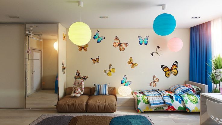 Kelebek Temalı Çocuk Odası by dekorasyonguncesi