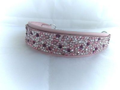 Pretty in pink Swarovski Crystal Dog Collar