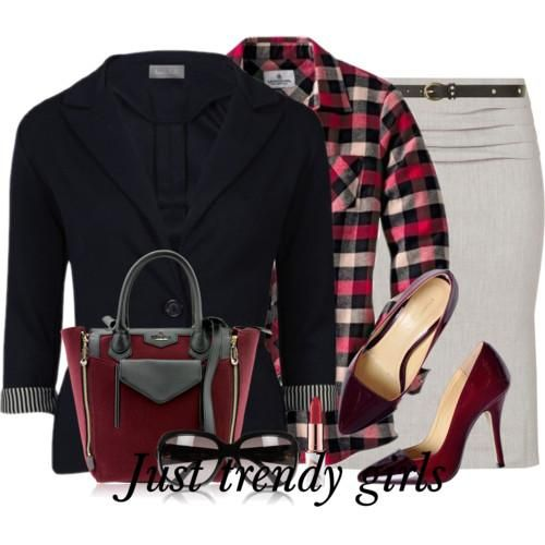 Classic plaid suits for woman   Just Trendy Girls