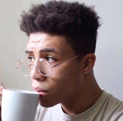 BLACK GUYS with GLASSES ON