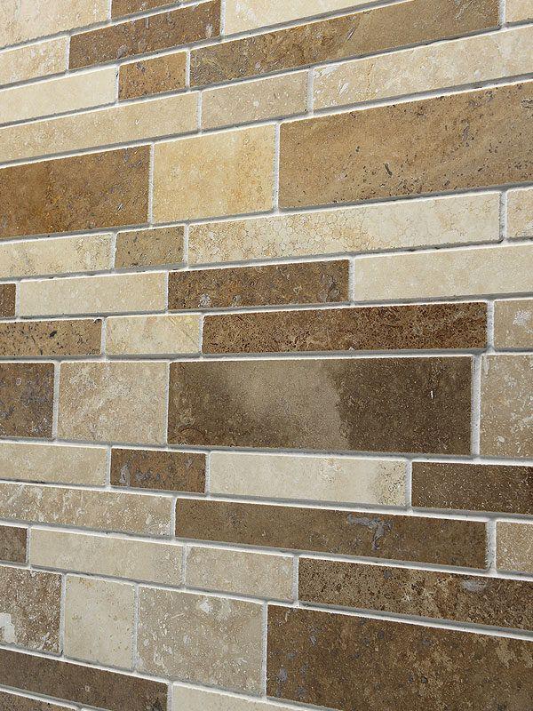 Travertine Subway Mix Backsplash Tile Ivory Beige Brown Kitchen Tiles Backsplash Tile Backsplash Backsplash
