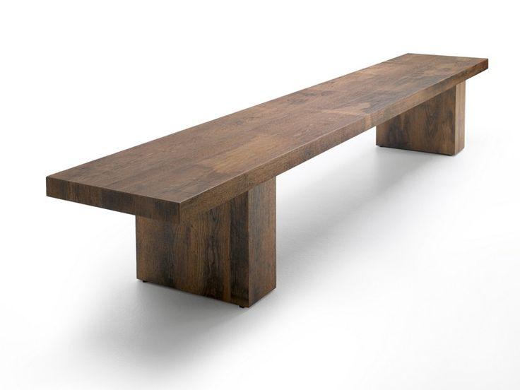 LINK 2 Banco de madera by MDF Italia diseño Bruno Fattorini