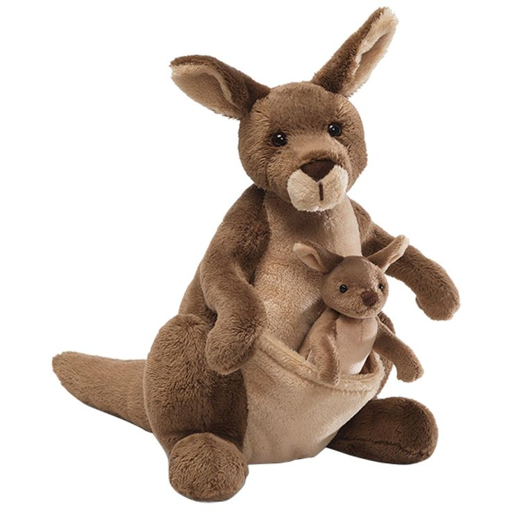 Jirra Kangaroo with Joey 25cm