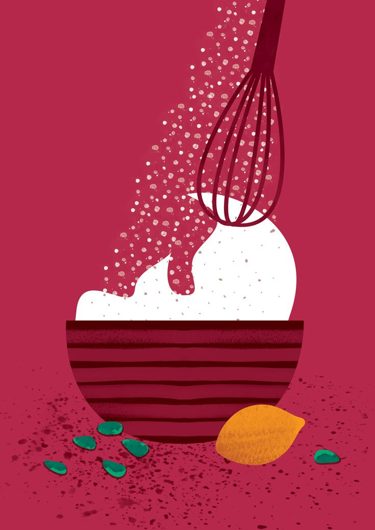 Food illustration for a book published by State Ethnographic Museum in Warsaw.