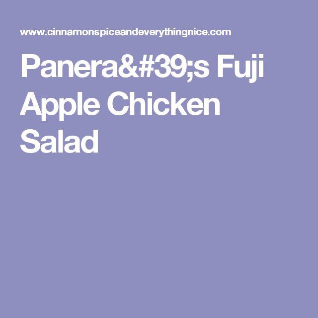 Panera's Fuji Apple Chicken Salad
