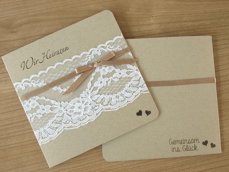 """Einladung Hochzeit, wedding Invitation, vintage style, """"Gemeinsam ins Glück"""" von Stampin'Up"""