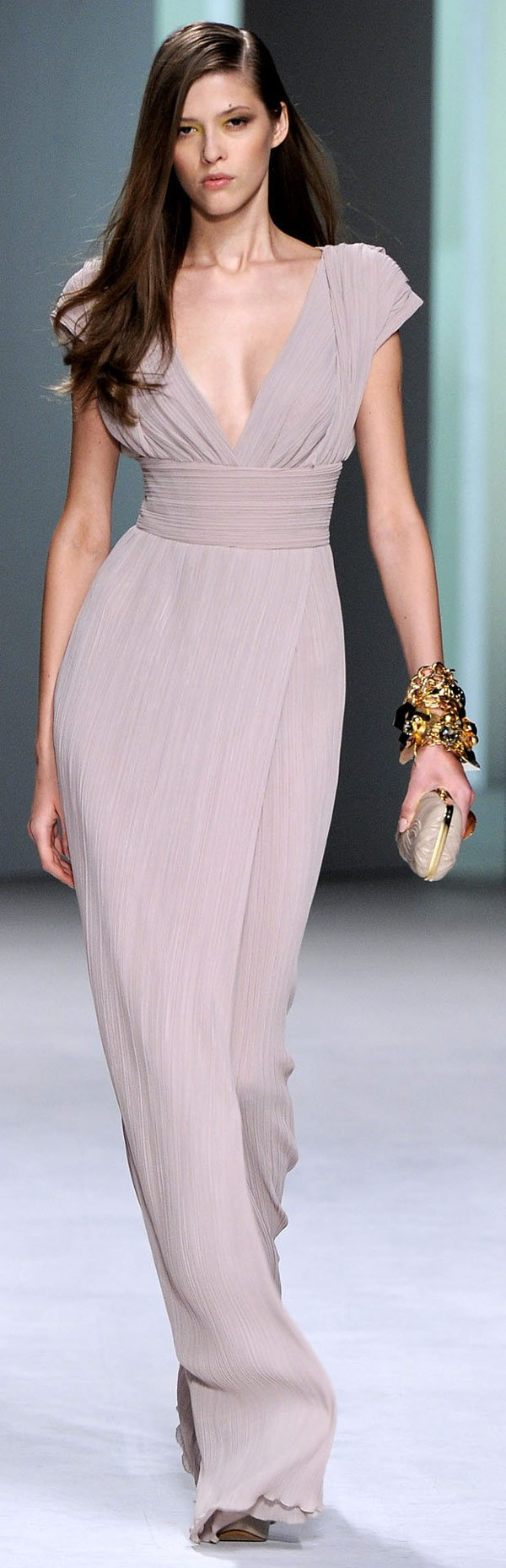Elie Saab Spring 2011 in a pale lilac-pink dress
