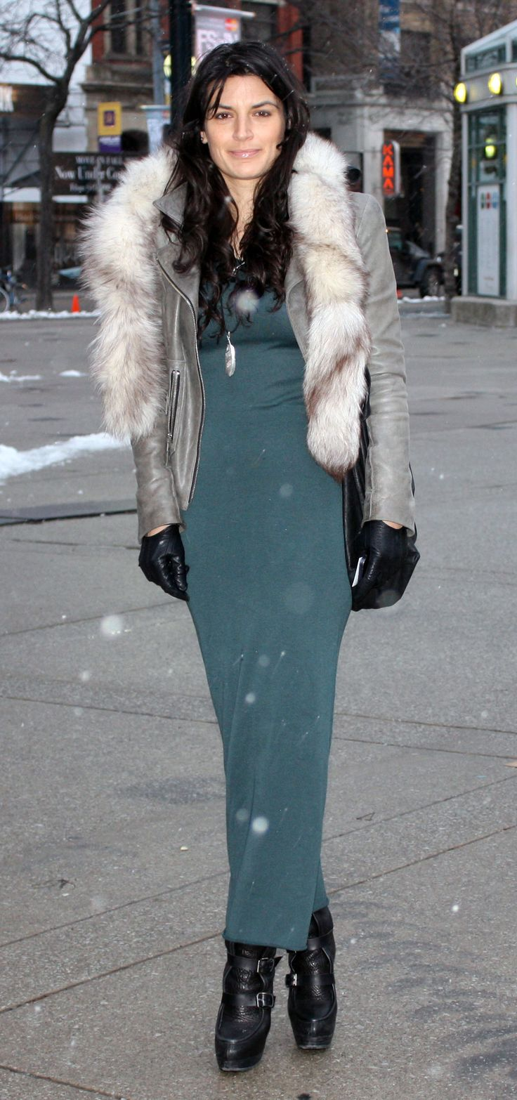 Adore, need, want, love the whole thing. Don't care that winter's almost over.   forest green maxi dress