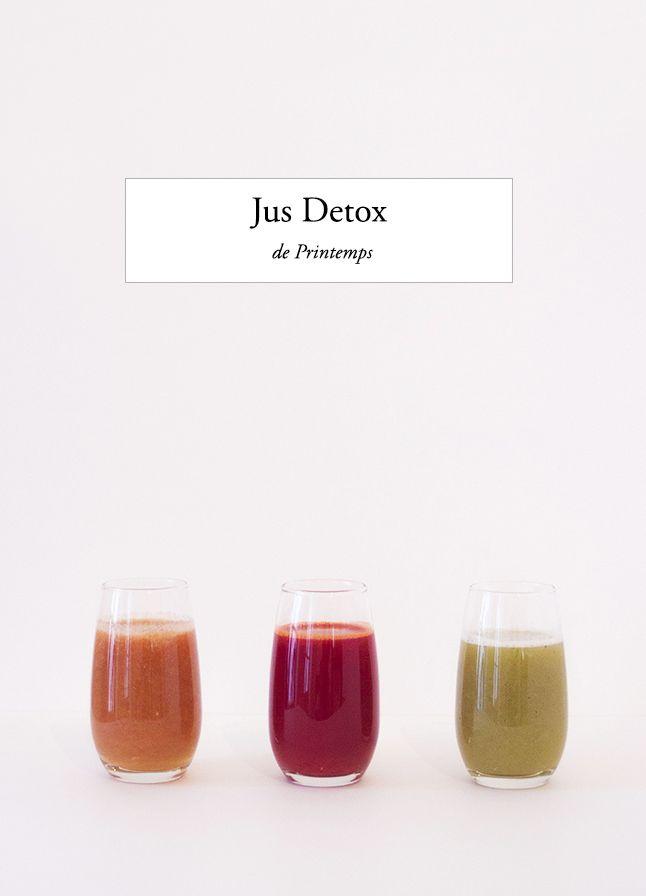 Des jus de fruits et légumes frais pour détoxifier le corps