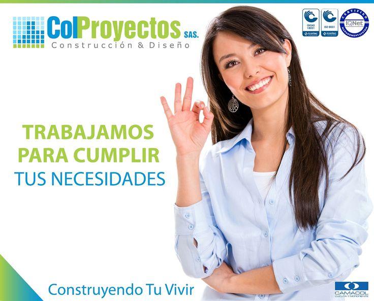 Trabajamos dia a dia satisfaciendo las necesidades y expectativas de nuestros clientes, conoce mas sobre nosotros en http://www.colproyectos.com/web/index.php/nosotros2